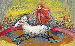 Picture oil, canvas, the trick, Kees van Dongen, Fauvism, In the circus Medrano