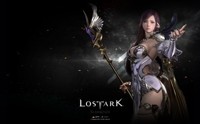 Wallpaper background, Lost Ark, girl, sparks, the game