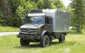 Picture vegetation, Mercedes-Benz, truck, Unimog, U4023, Bimobil EX 435