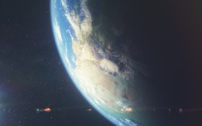 Picture cosmos, planet, sci fi
