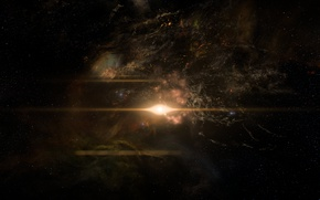 Picture Space, Star, Andromeda, Mass Effect Andromeda