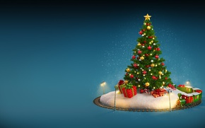 Wallpaper New Year, Christmas, winter, snow, merry christmas, decoration, christmas tree