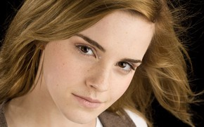 Picture look, close-up, face, portrait, 2008, makeup, hairstyle, brown hair, beauty, Emma Watson, Emma Watson, photoshoot, …