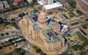 Picture panorama, USA, Austin, The Texas state Capitol