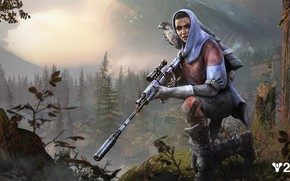 Picture girl, weapons, the game, Destiny 2