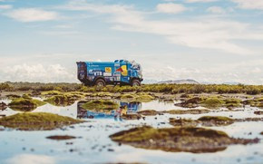 Picture The sky, Water, Sand, Nature, Sport, Speed, Truck, Race, Master, Swamp, Beauty, Russia, Beast, Kamaz, …