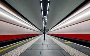 Wallpaper metro, station, London, England, Clapham Common