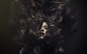 Picture girl, hair, beauty