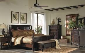 Wallpaper style, British Colonial Bedroom, interior, room, bedroom