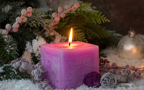 Picture holiday, new year, candles, bumps, decor