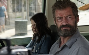 Picture cinema, girl, Wolverine, Hugh Jackman, X-Men, Logan, man, Marvel, hero, film, Laura, powerful, strong, X-23, …