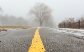 Picture road, fog, background