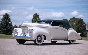 Picture white, retro, car, Cabriolet, Supercharged, Graham