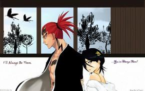 Picture art, two, Bleach, Bleach, Rukia, Renji
