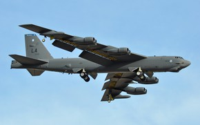 Picture Boeing, missile, strategic bomber, STRATO fortress, B-52H