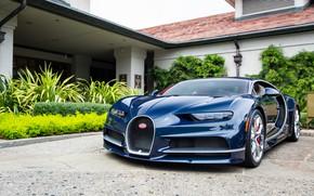 Picture Bugatti, House, Yard, Chiron