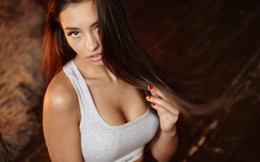 Picture background, beauty, Darina, look
