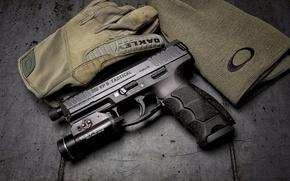 Wallpaper gun, background, VP9, Tactical, H&K