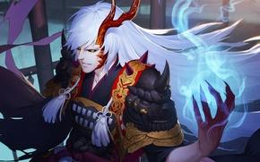 Picture monster, armor, devil, anime, power, dragon, samurai, transformation, evil, asian, japanese, oriental, asiatic, powerful, horn, …