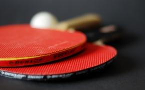 Wallpaper macro, tennis, racket