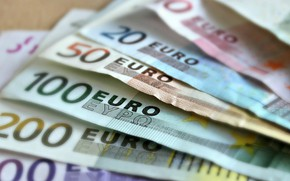 Picture money, Euro, currency, loot
