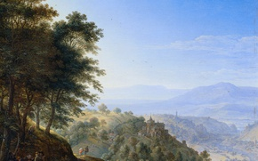 Picture oil, picture, Herman Saftleven, Mountain Landscape in Boppard on the Rhine