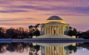 Picture Washington, USA, Jefferson Memorial, Tidal pool