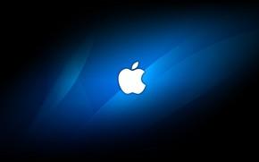 Picture Apple, Blue, Hi-tech