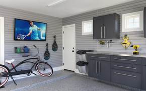 Picture bike, room, interior, TV, workshop