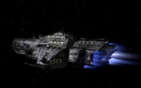 Picture space, Valkyrie, spaceship, 3D grafka
