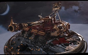 Picture planet, tank, Warhammer Khorn tank