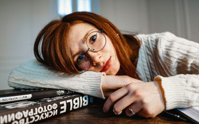 Picture Girl, Look, Glasses, Girl, Eyes, Ring, Red, Rings, Eyes, Redhead, Books, Glasses, Look, Redhead, Red …