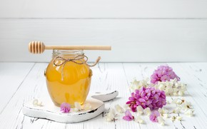 Picture flowers, honey, Bank