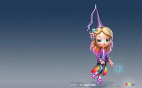Picture magic, art, girl, magic, magic wand, children's, fairy, George Redreev, George REDreev, Yesenia's magic shop