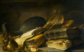Picture tree, oil, picture, Still life. Allegory Of Vanity, Jan Leavens
