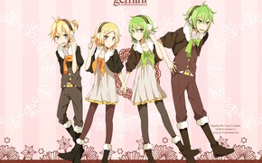 Picture background, group, anime, art, Vocaloid, Vocaloid, characters