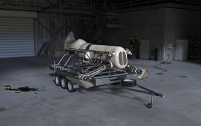 Picture transport, garage, the trailer, camera, Sky Machine hangar