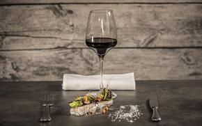 Picture wine, glass, fish
