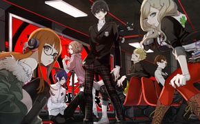 Picture girls, anime, art, characters, the guy, Persona