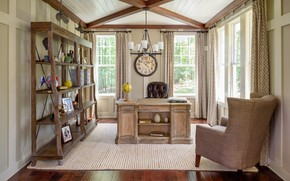 Picture table, watch, books, chair, office, rack