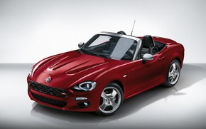 Wallpaper Roadster, Fiat, Europa Limited Edition, drives, background, 124 Spider, red