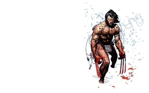 Picture winter, snow, blood, claws, Wolverine, Logan, Wolverine, Logan, marvel, Marvel Comics, Weapon X, weapon x
