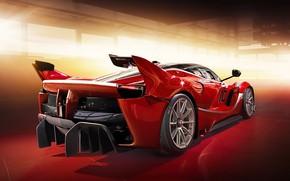 Picture auto, garage, Ferrari, red car