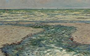 Picture landscape, picture, horizon, Claude Monet, Claude Monet, The Coast Of Purvis. Tide