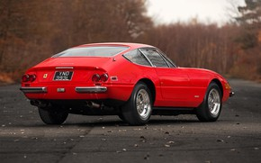 Picture Red, Auto, Autumn, Retro, Machine, Classic, Car, 365, Sports car, Gran Turismo, Back, Daytona, Ferrari …