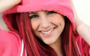 Picture face, smile, model, actress, hood, Ariana Grande