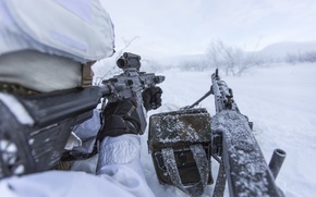 Picture weapons, soldiers, NATO, Norwegian Army