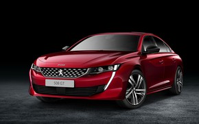 Picture auto, background, red, Peugeot 508 GT in 2019