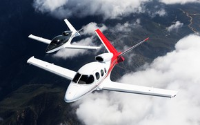 Picture the sky, pair, flight, Vision, planes, passenger, The plane, jet, business, Cirrus, jet