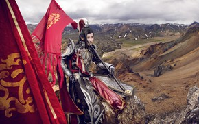 Picture style, armor, fabric, male, cosplay